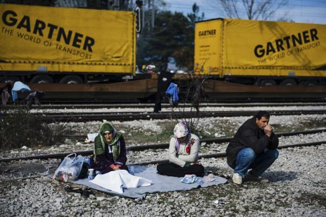 Au seul poste-frontière gréco-macédonien d'Idoméni, «il y a... (PHOTO DIMITAR DILKOFF, AGENCE FRANCE-PRESSE)