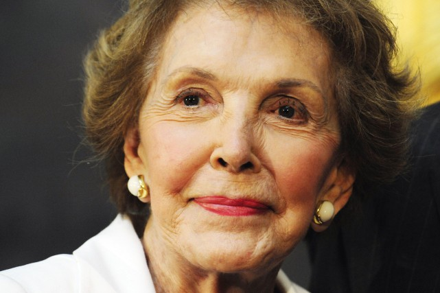 Nancy Reagan, en 2009.... (Archives AFP, Karen Bleier)