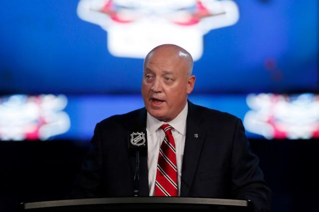 Le commissaire de la LNH Bill Daly, annonçant... (La Presse Canadienne, John Woods)