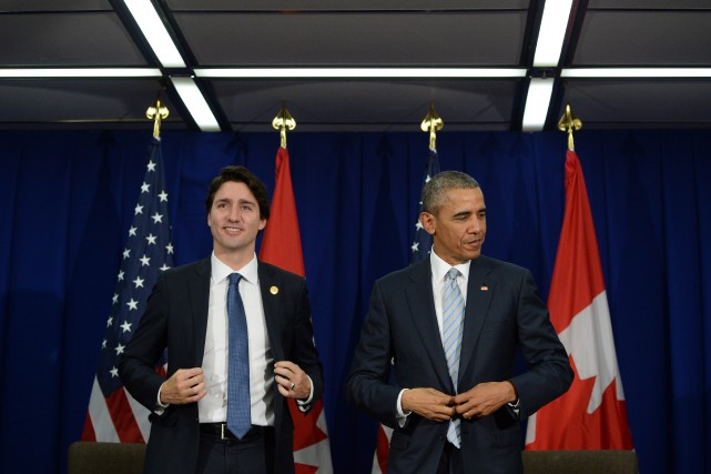 Justin Trudeau et Barack Obama lors d'une rencontre... (Photo archives La Presse Canadienne)