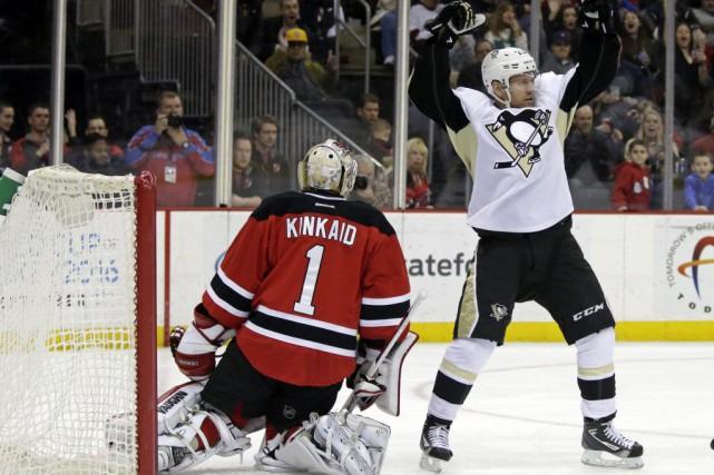Les Penguins de Pittsburgh n'étaient pas heureux de leur jeu dans une défaite... (Photo USA Today Sports)