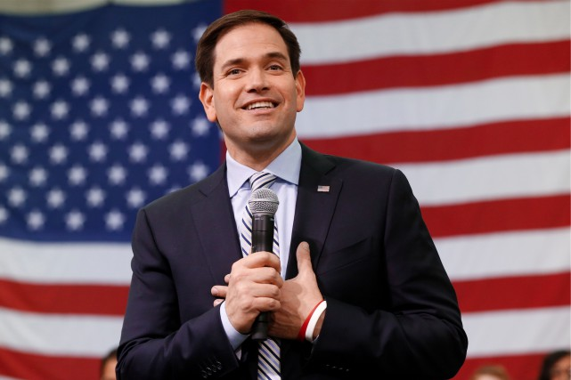Le sénateur républicain de Floride, Marco Rubio... (AP, Paul Sancya)