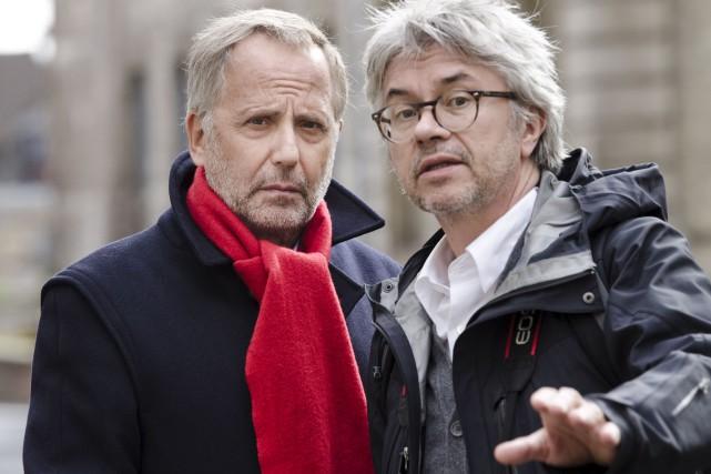 Christian Vincent, réalisateur de L'hermine (à droite) en... (Courtoisie)