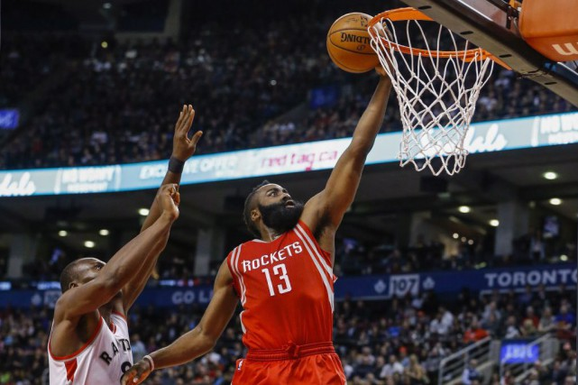 James Harden... (Photo Mark Blinch, PC)