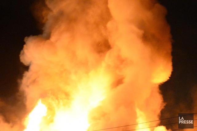 Le nombre d'incendies de bâtiments a diminué en 2015 à Saint-Félicien,... (Archives)