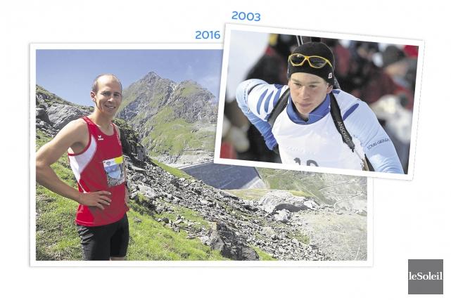 L'ex-biathlète François Leboeuf est aujourd'hui enseignant en Suisse,... (Infographie Le Soleil)