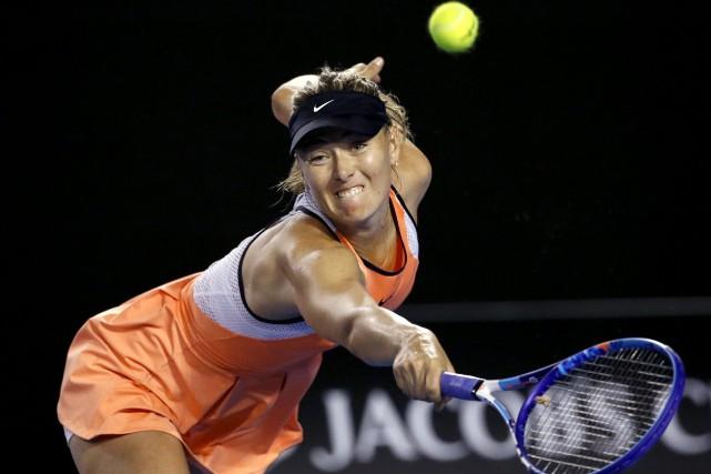 Maria Sharapovan'a disputé qu'un tournoi en 2016, les... (AP, Vincent Thian)