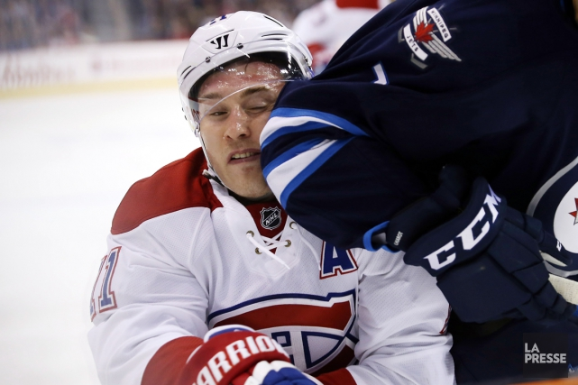 Brendan Gallagher s'est blessé durant le match de samedi... (Photo Bruce Fedyck, USA Today)
