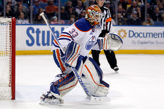 Le gardien des Oilers Cam Talbot a remporté ses... (Photo Timothy T. Ludwig, archives USA Today)