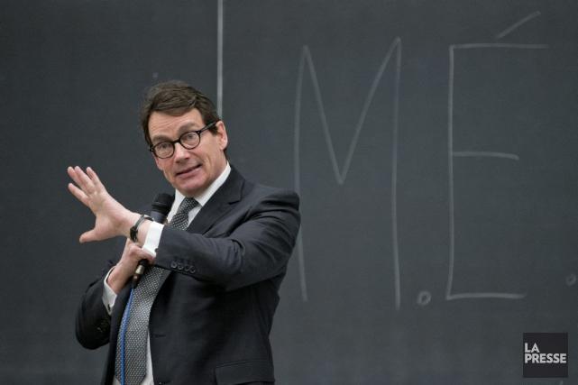 M.Péladeau dit ne pas avoir confiance dans le... (PHOTO DAVID BOILY, LA PRESSE)