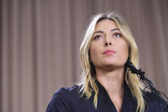Maria Sharapova a annoncé lundi à Los Angeles... (Photo Robyn Beck, AFP)