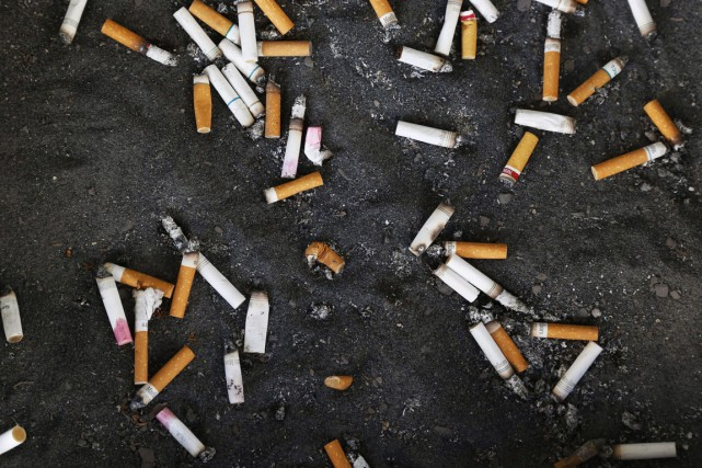 Les sociétés de tabac devraient être tenues responsables d'éliminer de manière... (Photo La Presse Canadienne)