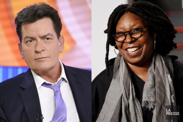 Charlie Sheen et Whoopi Goldberg... (PHOTOMONTAGE LA PRESSE)