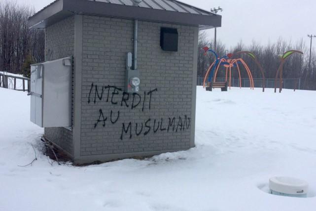 Depuis quelques mois, on assiste à la prolifération de graffitis haineux sur... (Photo collaboration spéciale, Éric Beaupré)