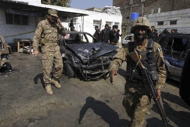 Au Pakistan, au moins 17 personnes ont été... (AFP, Hasham Ahmed)