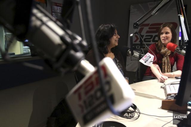 Shaila Anwar et Michaela Schreiter animent l'émission That's... (Patrick Woodbury, LeDroit)