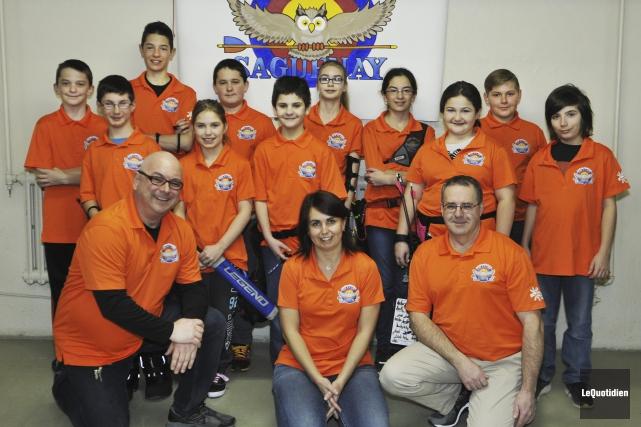 Voici quelques-uns des membres du Club-école de tir... (Photo Le Quotidien, Rocket Lavoie)