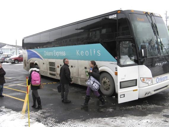 Les passagers d'Orléans ne débarquent désormais à Gaspé... (Collaboration spéciale Geneviève Gélinas)