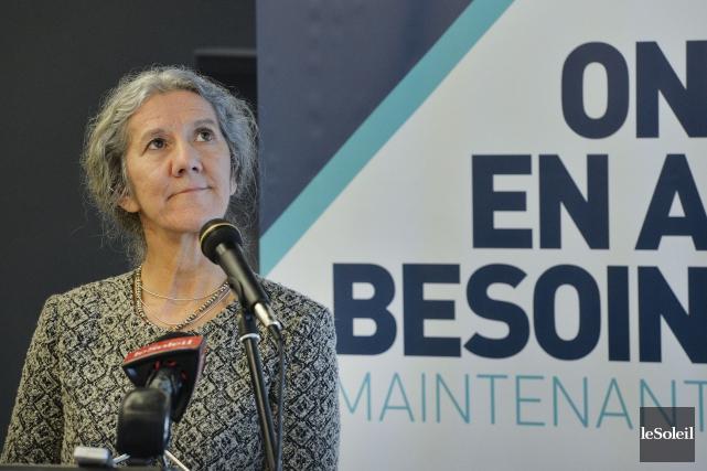 La présidente de l'Association des groupes de ressources... (Le Soleil, Pascal Ratthé)