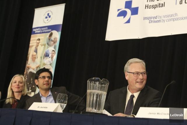 Lors de la présentation, le PDG de l'Hôpital... (Patrick Woodbury, LeDroit)