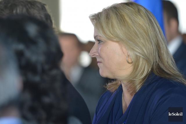 Sur Twitter, la ministre Lise Thériault s'est félicitée... (Le Soleil, Yan Doublet)