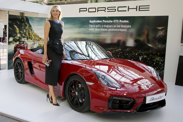 Maria Sharapova était ambassadrice de Porsche depuis 2013.... (Photo Charles Platiau, archives Reuters)