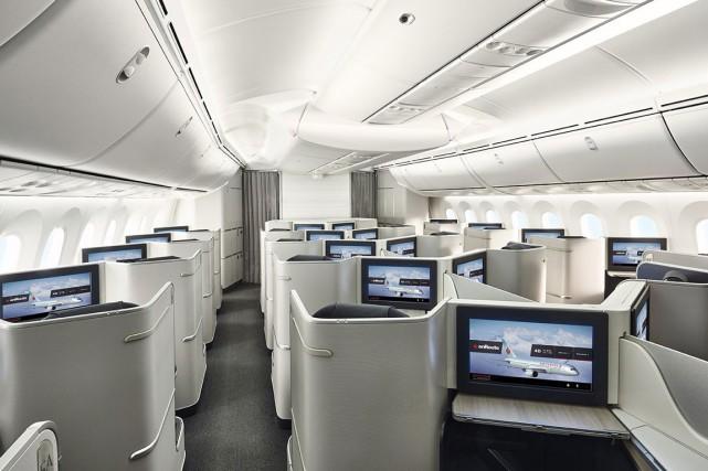 «Nos passagers réguliers modifient leur itinéraire pour être... (PHOTO FOURNIE PAR AIR CANADA)