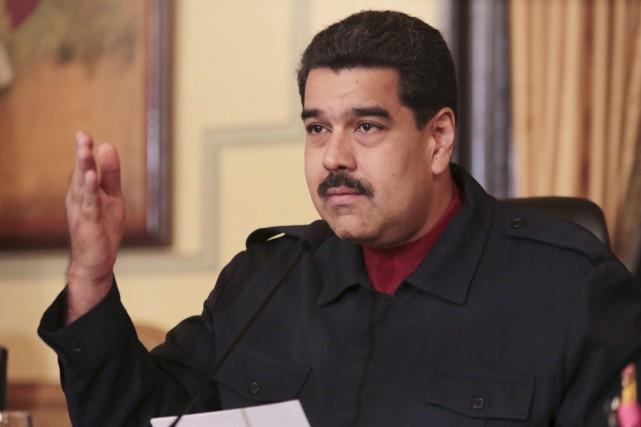 Le président Nicolas Maduro a été élu en... (PHOTO ARCHIVES PALAIS MIRAFLORES/REUTERS)