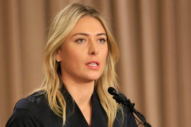 Maria Sharapova a admis lundi avoir pris du meldonium pendant 10... (Photo Damian Dovarganes, archives AP)