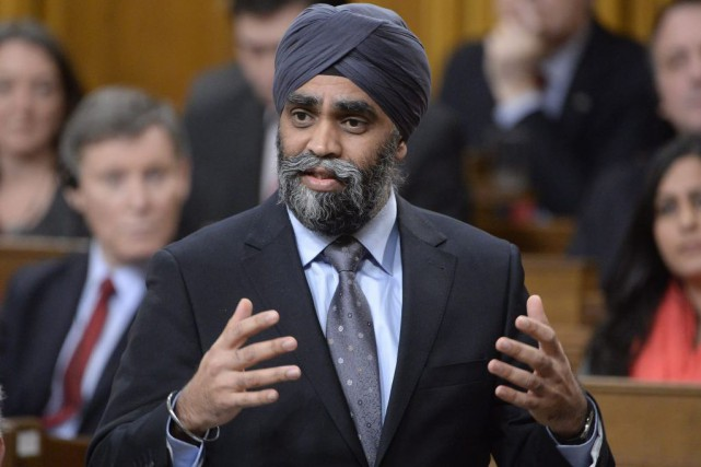 Le ministre de la Défense, Harjit Sajjan.... (PHOTO ADRIAN WYLD, ARCHIVES LA PRESSE CANADIENNE)