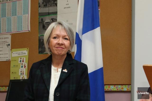 La présidente de la Commission scolaire desHautes-Rivières, Andrée... (Archives La Voix de l'Est)