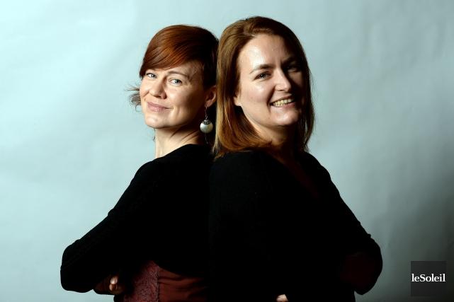 Julie St-Onge-Drouin, présidente et directrice artistique, et Catherine... (Le Soleil, Erick Labbé)