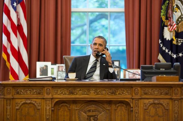 Le président américain, Barack Obama, attend la visite... (PHOTO ARCHIVES AFP/MAISON-BLANCHE)