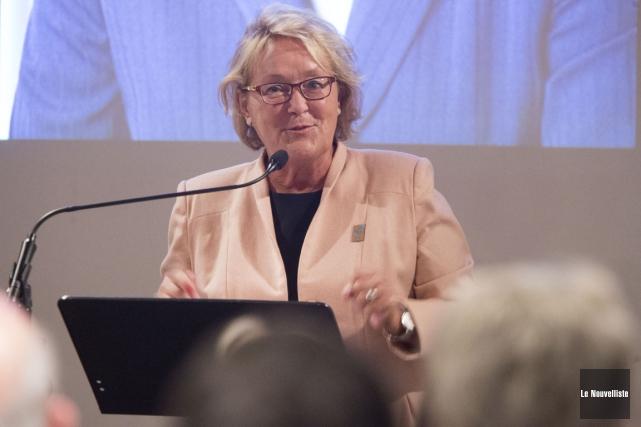 L'ancienne première ministre du Québec, Pauline Marois, a... (Stéphane Lessard, Le Nouvelliste)