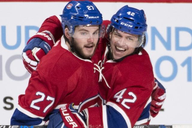 Alex Galchenyuk (à gauche) a joué les héros... (La Presse Canadienne)