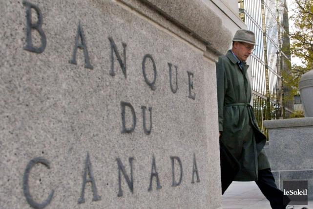 La banque centrale du Canada a maintenu mercredi son taux directeur à 0,50%... (Photothèque Le Soleil, PC Tom Hanson)