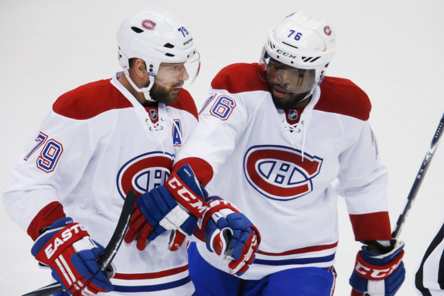 Andrei Markov et P.K. Subban... (Photo David Zalubowski, archives AP)