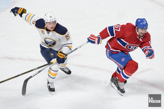 Jack Eichel et Max Pacioretty... (Photo Bernard Brault, archives La Presse)