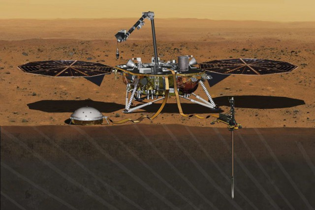 InSight (Interior Exploration using Seismic Investigations, Geodesy and... (PHOTO AP/NASA)