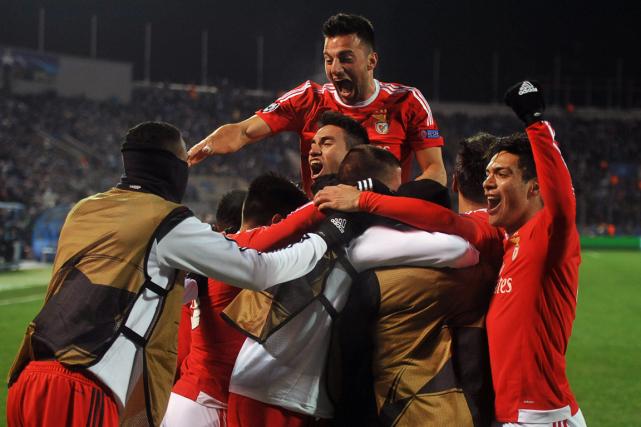 Benfica a remporté une victoire de 2-1 contre... (Photo Olga Maltseva, AFP)