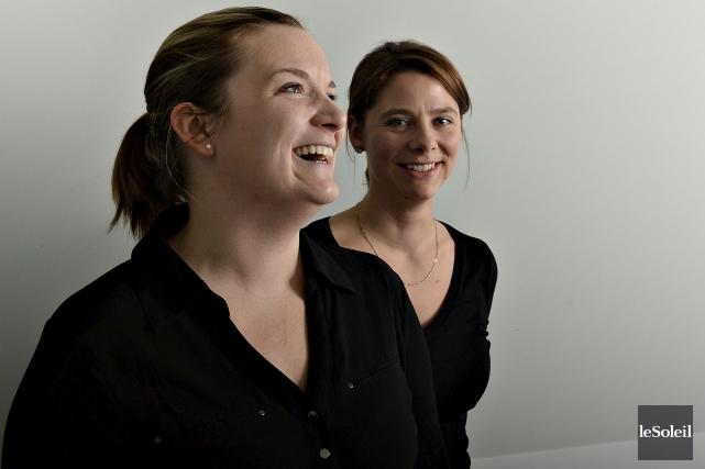 Mélanie Sicotte, présidente, et Marie-Ève Lachance, vice-présidente de... (Le Soleil, Patrice Laroche)