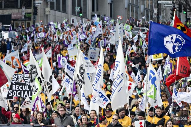 L'APTS faisait partie du front commun représentant 420000employés... (PHOTO OLIVIER JEAN, ARCHIVES LA PRESSE)