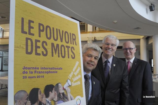 Dans l'ordre habituel, on retrouve Sylvain Benoit, président... (Sylvain Mayer, Le Nouvelliste)