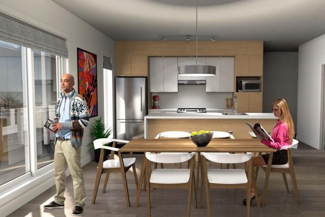 Tous les appartements seront configurés à aire ouverte.... (Fournie par Atelier H)
