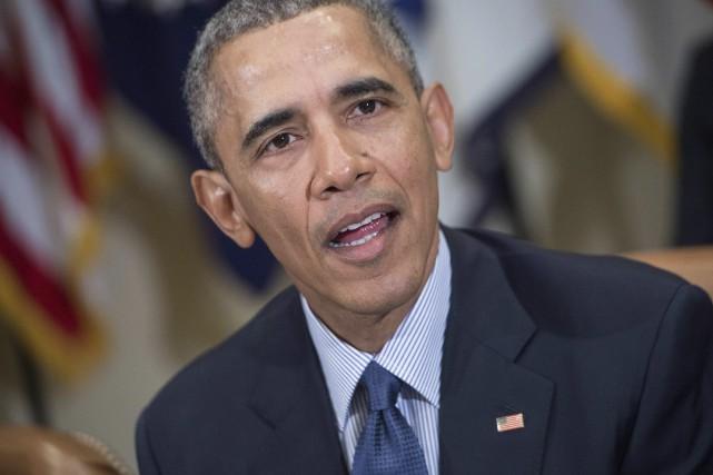 Barack Obama sera le premier président américain à... (PHOTO NICHOLAS KAMM, ARCHIVES AFP)