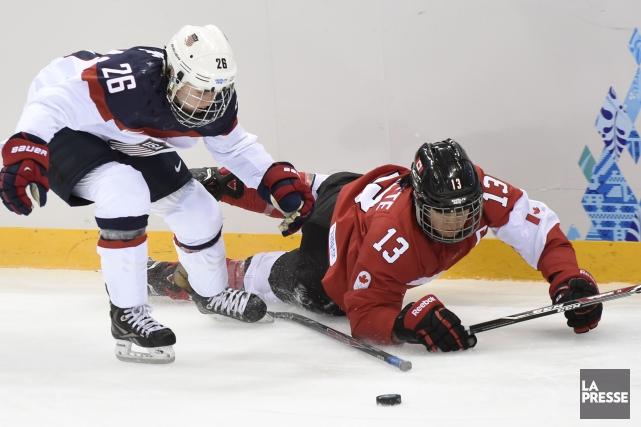 Caroline Ouellette était capitaine de l'équipe du Canada... (Archives, La Presse)