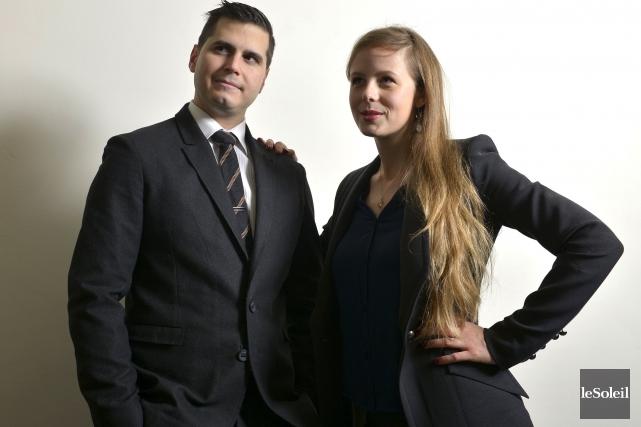 Olivier Brière-Leblanc et Lara Émond, cofondateurs de Groupe... (Le Soleil, Yan Doublet)