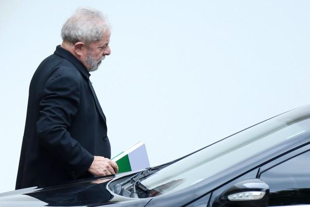 L'ancien président Luiz Inácio Lula da Silva à... (PHOTO ADRIANO MACHADO, REUTERS)