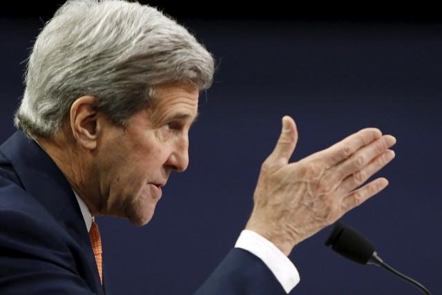 Le secrétaire d'État américain, John Kerry.... (PHOTO GARY CAMERON, ARCHIVES REUTERS)