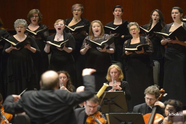 La passion selon saint Matthieu nécessite deux orchestres,... (Le Soleil, Yan Doublet)